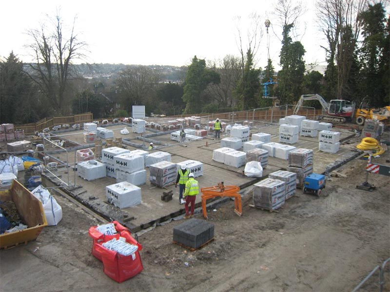 West Hill Construction: H+H Celcon Thin Joint Blocks